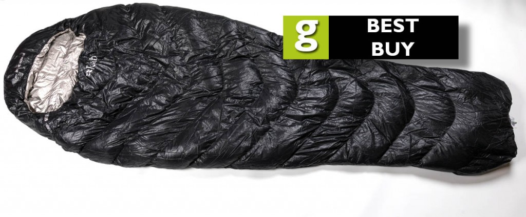 The Rab Mythic Ultra 180 sleeping bag gained grough's 'best buy' rating. Photo: Bob Smith/grough
