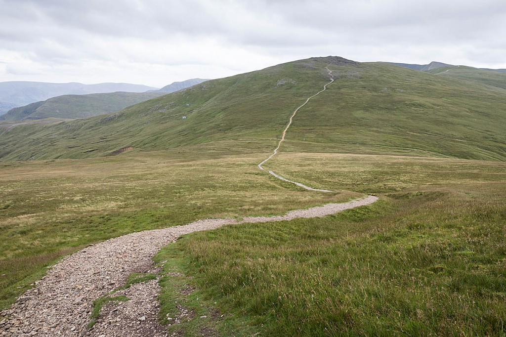 The women missed the turn down Sticks Pass and continued to Helvellyn. Photo: Bob Smith/grough