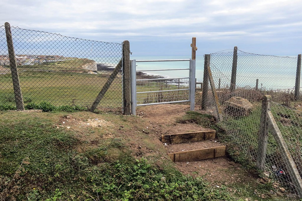 The newly installed gate at the Southern Water site at Telscombe