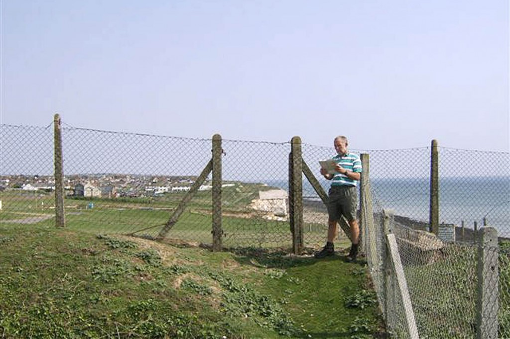 Dave Brookshaw of the South Downs Society at the site before the installation of the gate