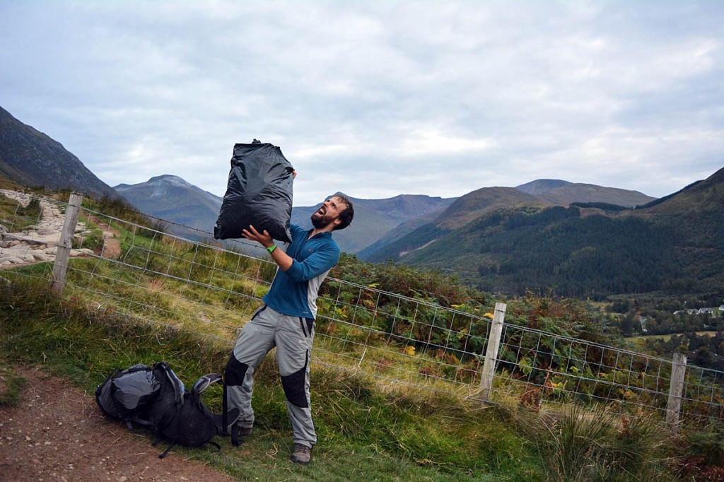 In the bag: the Ben Nevis clean-up collected 153kg of rubbish. Photo: Real3 Peaks Challenge