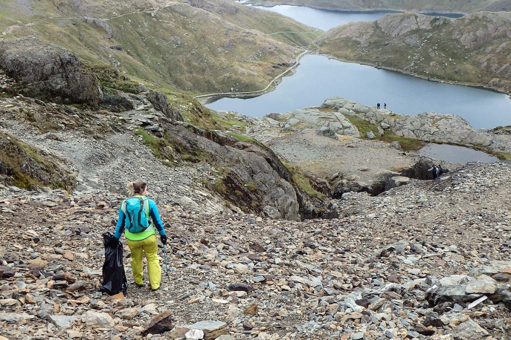 The clean-up on Snowdon. Photo: Real3 Peaks Challenge
