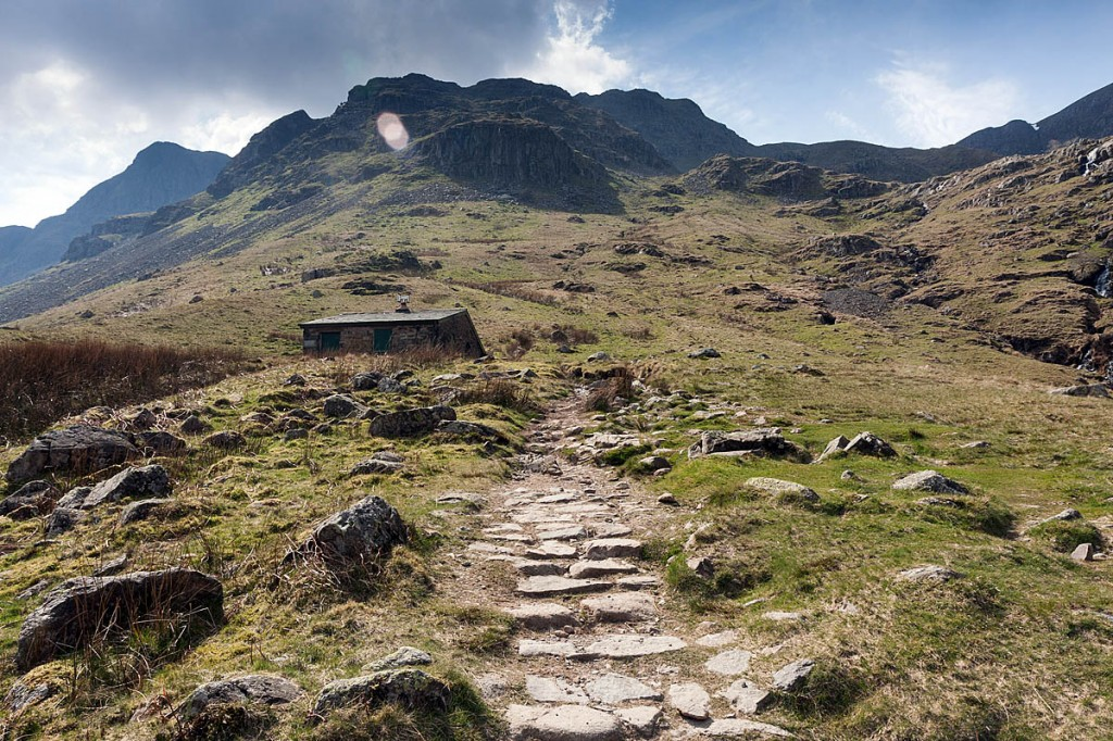 The walker slipped near the Ruthwaite Lodge climbing hut in Grisedale. Photo: Bob Smith/grough