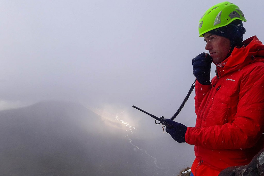 One of the new radios in action. Photo: Dundonnell MRT