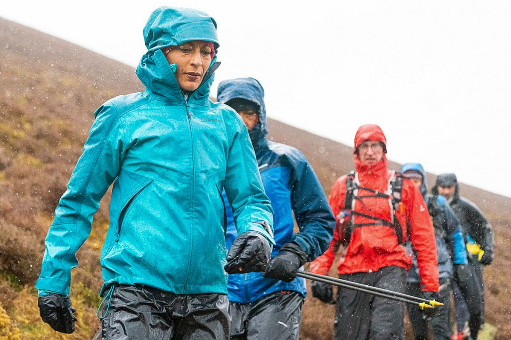 Verjee and her support runners battled atrocious weather during Monday. Photo: Steve Ashworth