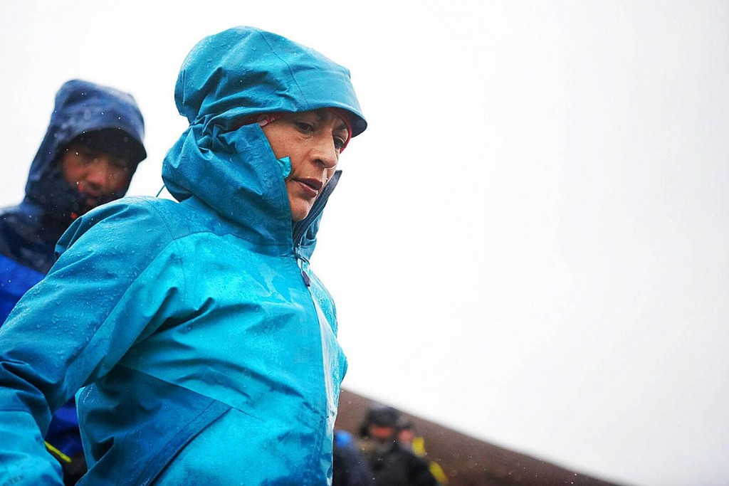 Sabrina Verjee faced atrocious weather in the later stages of her attempt. Photo: Steve Ashworth