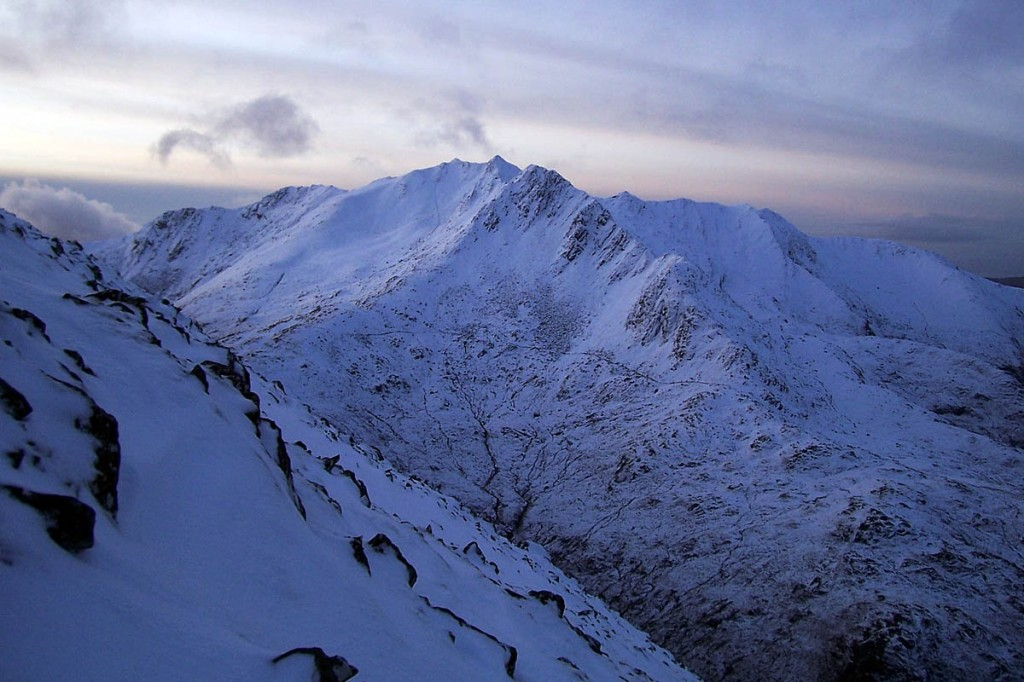 The alarm was acitvated between The Saddle and Sgurr na Sgine. Photo: Stuart Westwater CC-BY-SA-3.0