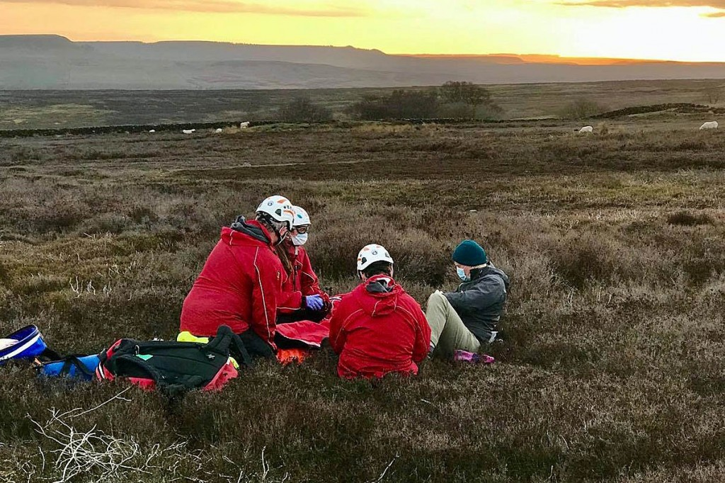 The rescue scene on Harland Moor. Photo: Scarborough and Ryedale MRT