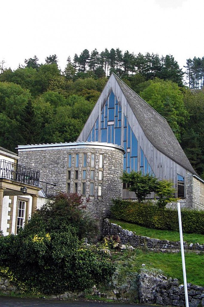 The listed chapel was designed in the Scandinavian style to reflect the area's Viking heritage