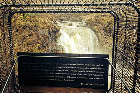 John Kennedy's work overlooking the Falls of Falloch