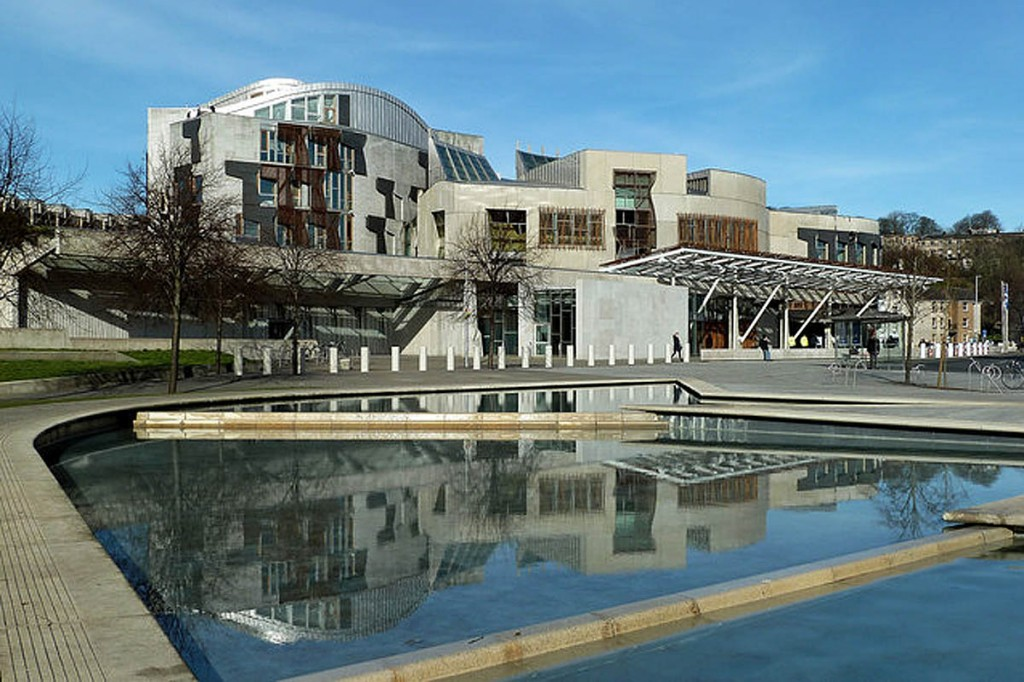 The reception will take place at the Scottish Parliament building at Holyrood. Photo: Mary and Angus Hogg CC-BY-SA-2.0