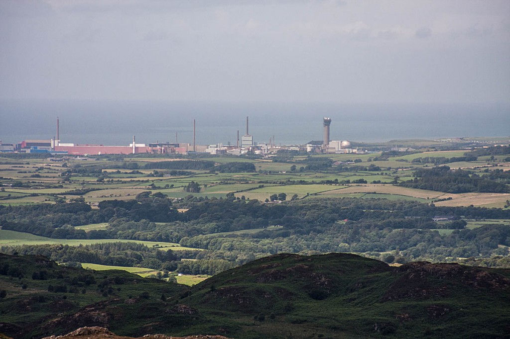 The Sellafield nuclear site, seen from the Lake District national park. Photo: Bob Smith/grough