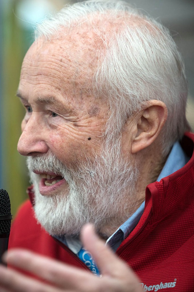 Sir Chris Bonington: 'stay active'. Photo: Bob Smith/grough