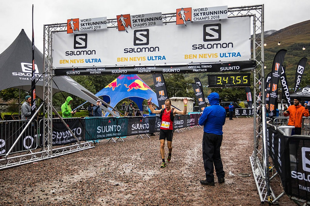 Jonathon Albon wins the Ben Nevis Ultra. Photo: No Limits Photography