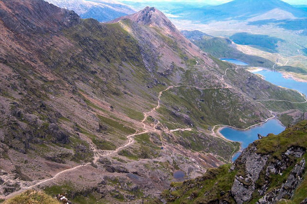 The man fell from the Pyg Track to the Miner's Track on Snowdon. Photo: Kevan Watson CC-BY-SA-2.0