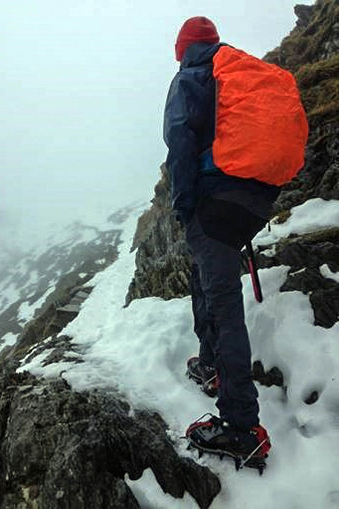 An ice-axe and crampons are essential on the national park's mountains. Photo: Snowdonia NPA