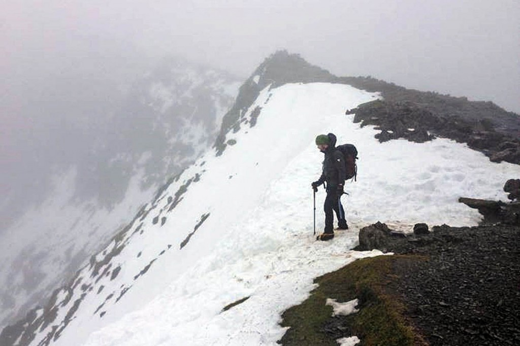 Conditions at Bwlch Glas on Snowdon recently. Photo: Snowdonia NPA