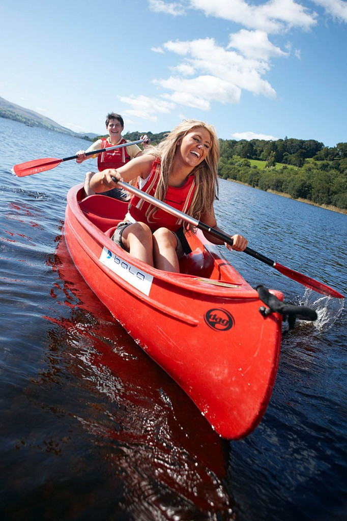 Canoeing on Bala Lake will be one of the festival activities. Photo: Gwynedd Council