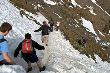 Walkers on Snowdon: 'A great challenge shouldn't come at the sacrifice of enjoyment and safety'