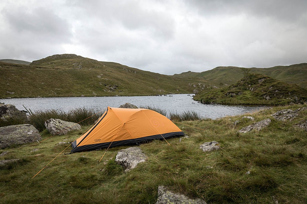 The Snugpak tent proved stable on a windy Lake District night. Photo: Bob Smith/grough