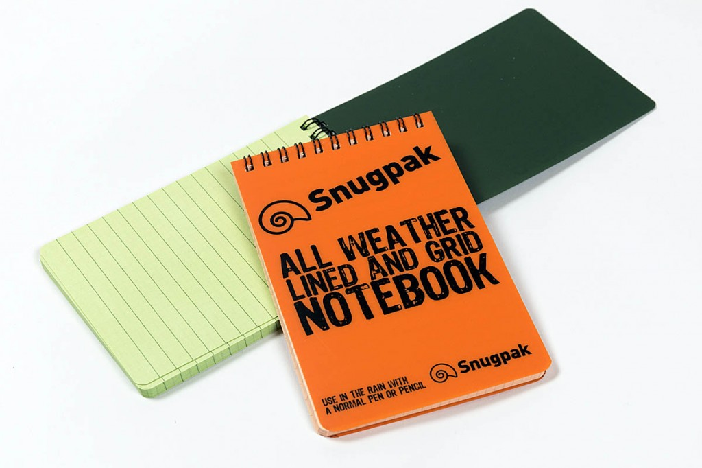 Snugpak Water Resistant Notebooks. Photo: Bob Smith/grough