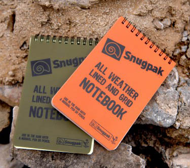 Snugpak's Water Resistant Notebooks