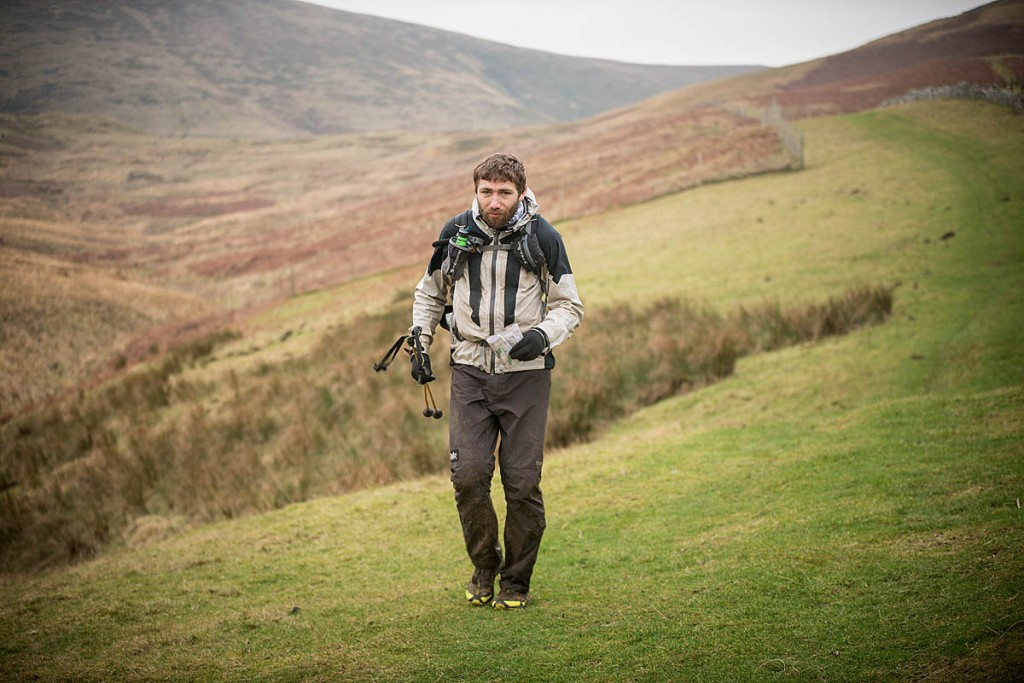 Pavel Paloncý on his way to the finish on the final day of the Spine Race. Photo: Mick Kenyon/Montane Spine Race