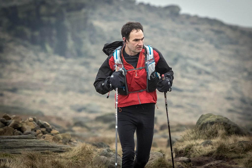 Jim Mann in last year's Montane Spine Race. Photo: Bob Smith/grough