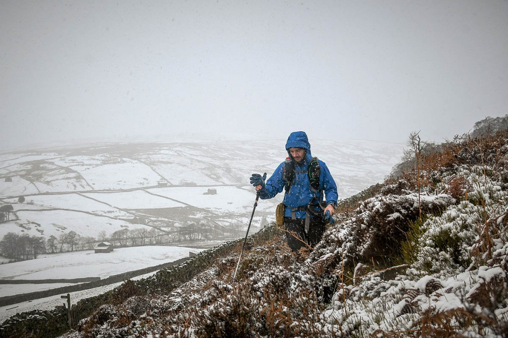 Runners faced blizzards in the north Pennines. Photo: Mick Kenyon/Spine Race
