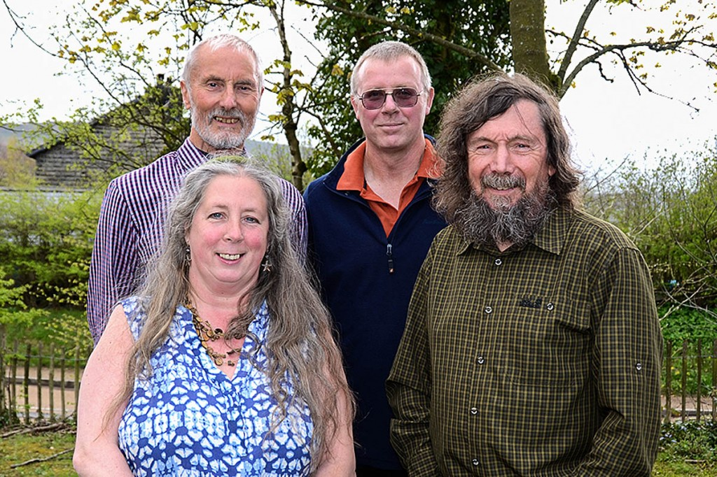 Spirit of Kinder speakers: from left, Dave Morris, Ann Beedham, Chris Sainty and Chris Townsend. Photo: Keith Warrender
