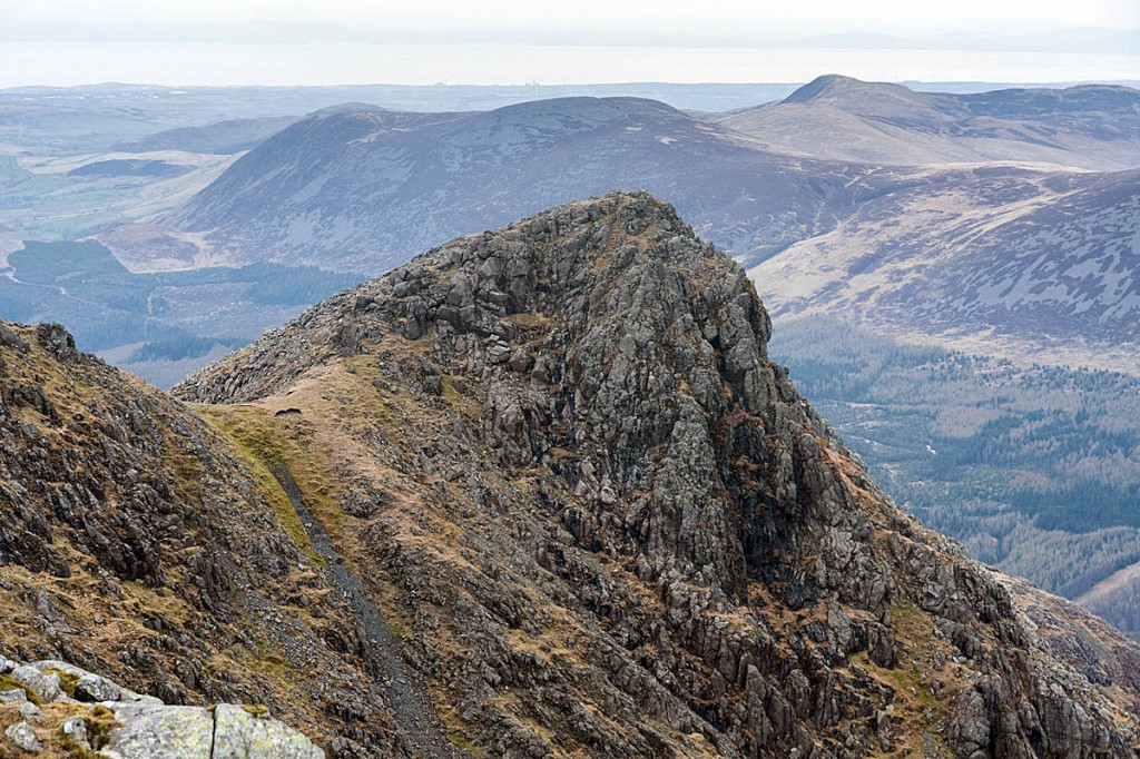 The man fell from the ridge leading to Steeple, above Ennerdale. Photo: Bob Smith/grough