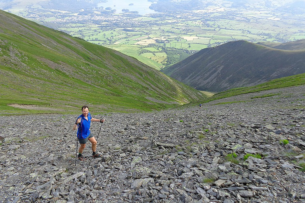 Steve Birkinshaw on Skiddaw on the penultimate day of his record run