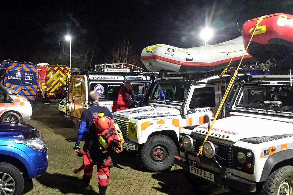 Rescuers from several organisations went into action in St Asaph. Photo: North Wales MRA