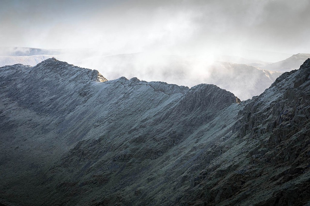 The walker was airlifted from Striding Edge. Photo: Bob Smith/grough