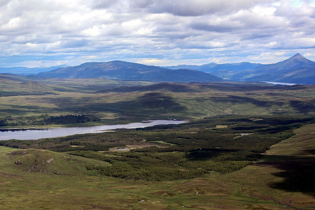 The site for the proposed Talladh a Bheithe windfarm. Photo: Keep Rannoch Wild campaign