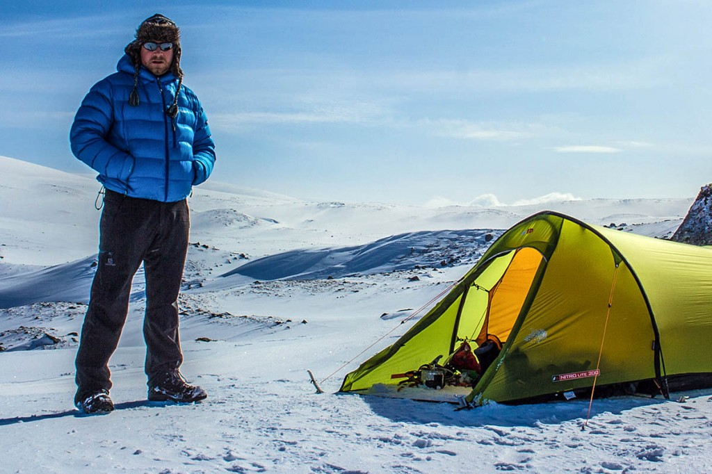 Terry Abraham camping on Moine Mhor in the Cairngorms. Photo: Terry Abraham
