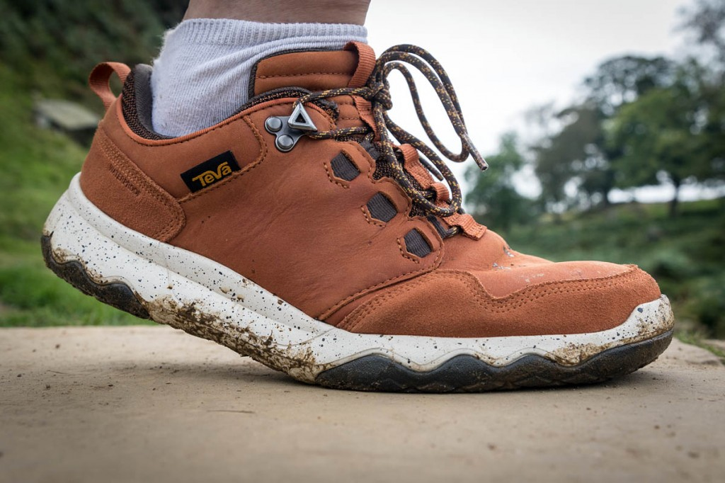 The Teva Arrowood Lux on the trail. Photo: Bob Smith/grough