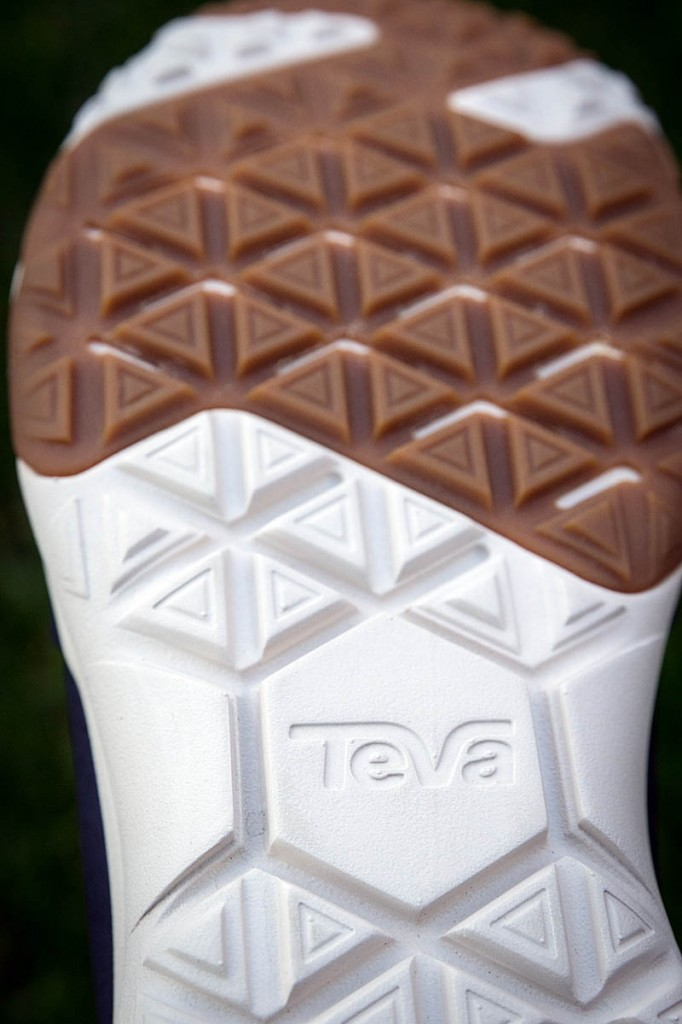 The outsole is constructed from two materials. Photo: Bob Smith/grough