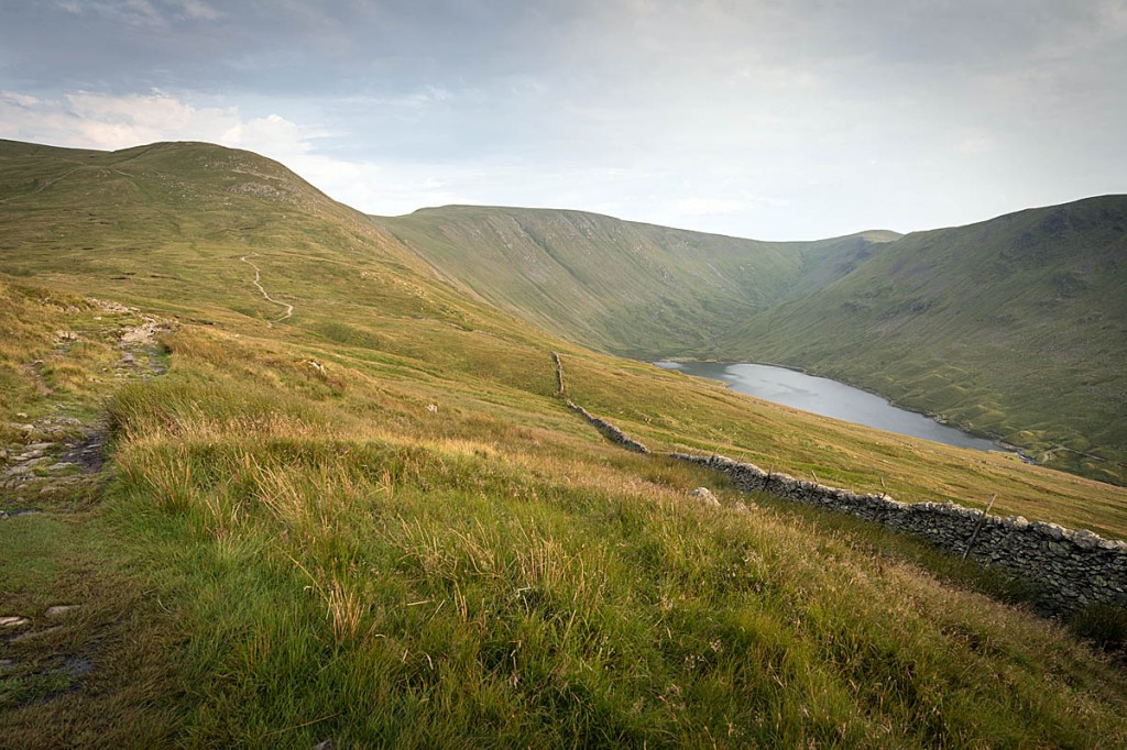 The man slipped between The Knott, left, and Hayeswater. Photo: Bob Smith/grough