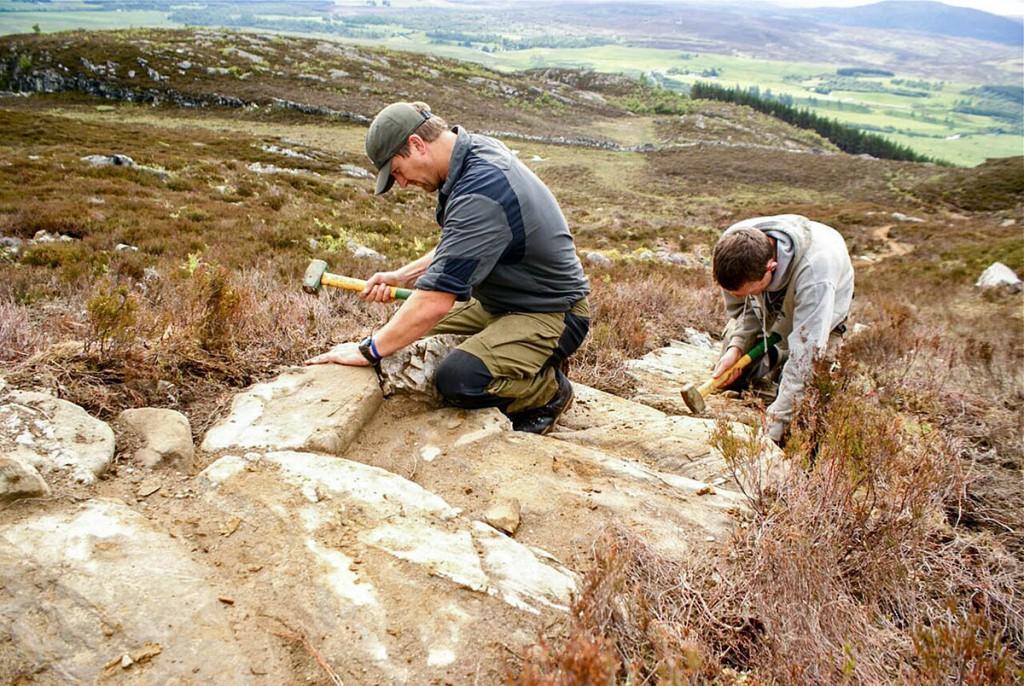 COAT trainees restore a mountain path. Photo: Michael McGurk