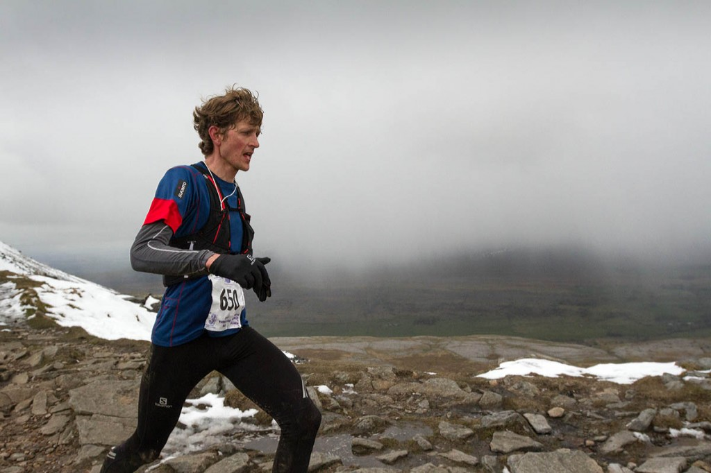 Marc Lauenstein on his way to victory in his first Three Peaks Race