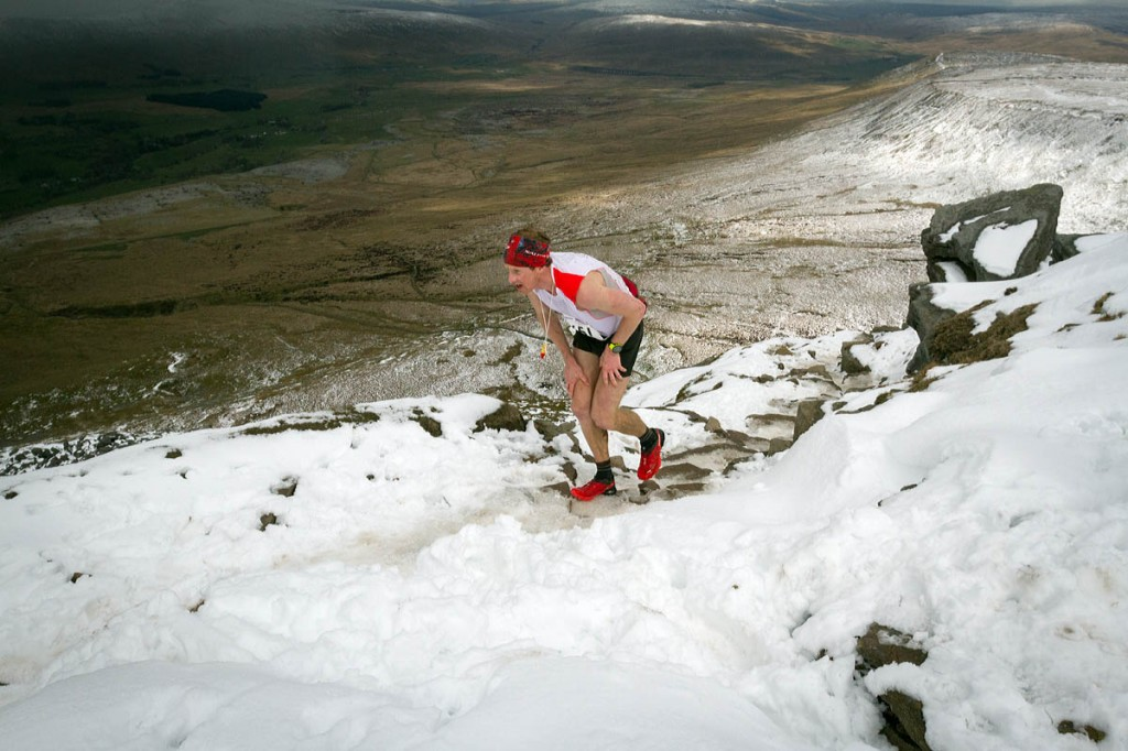 Ricky Lightfoot was second in a race run in wintry conditions