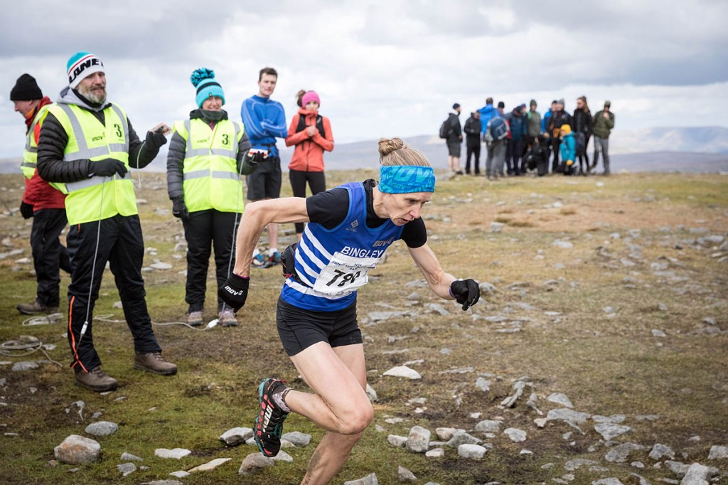 Fellrunner Victoria Wilkinson in action during the Three Peaks Race. Photo: Bob Smith/grough