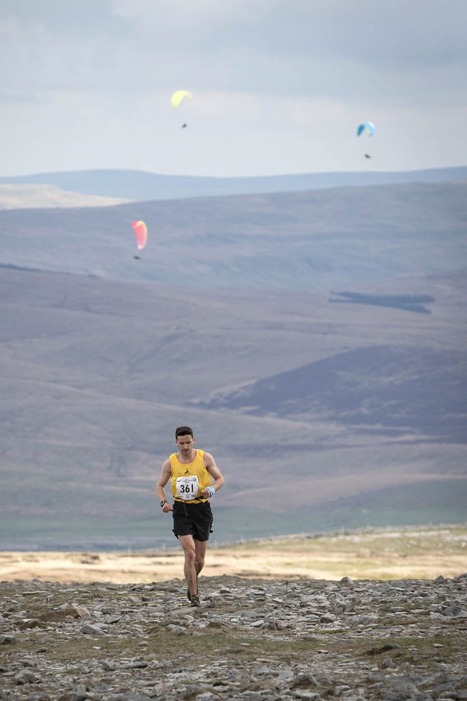Daniel Connolly hits the heights during the race. Photo: Bob Smith/grough