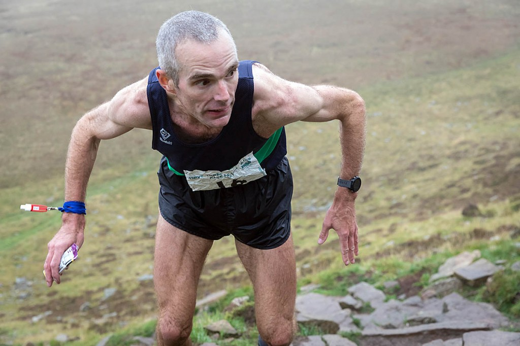 Garry Greenhow won the 2021 Three Peaks Race at his first attepmt. Photo: Bob Smith/grough