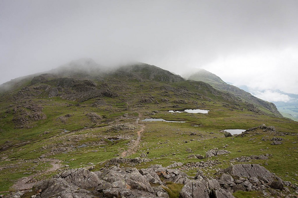 Rescuers worked out the group was below Three Tarns, between Crinkle Crags and Bowfell. Photo: Bob Smith/grough