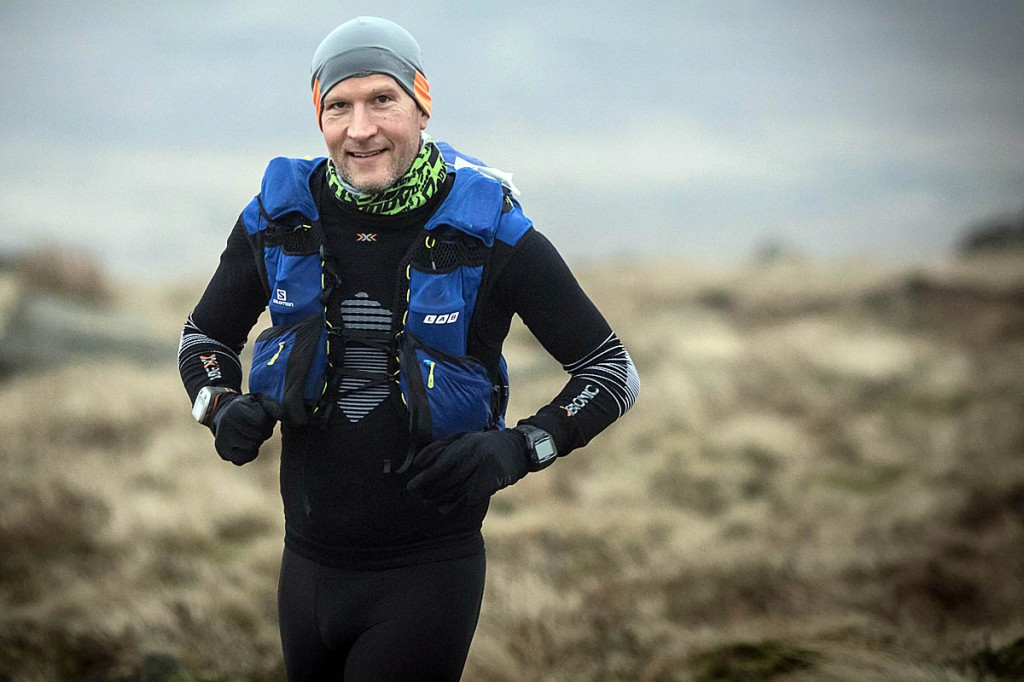 Tom Hollins in action during the Spine Race. Photo: Bob Smith/grough