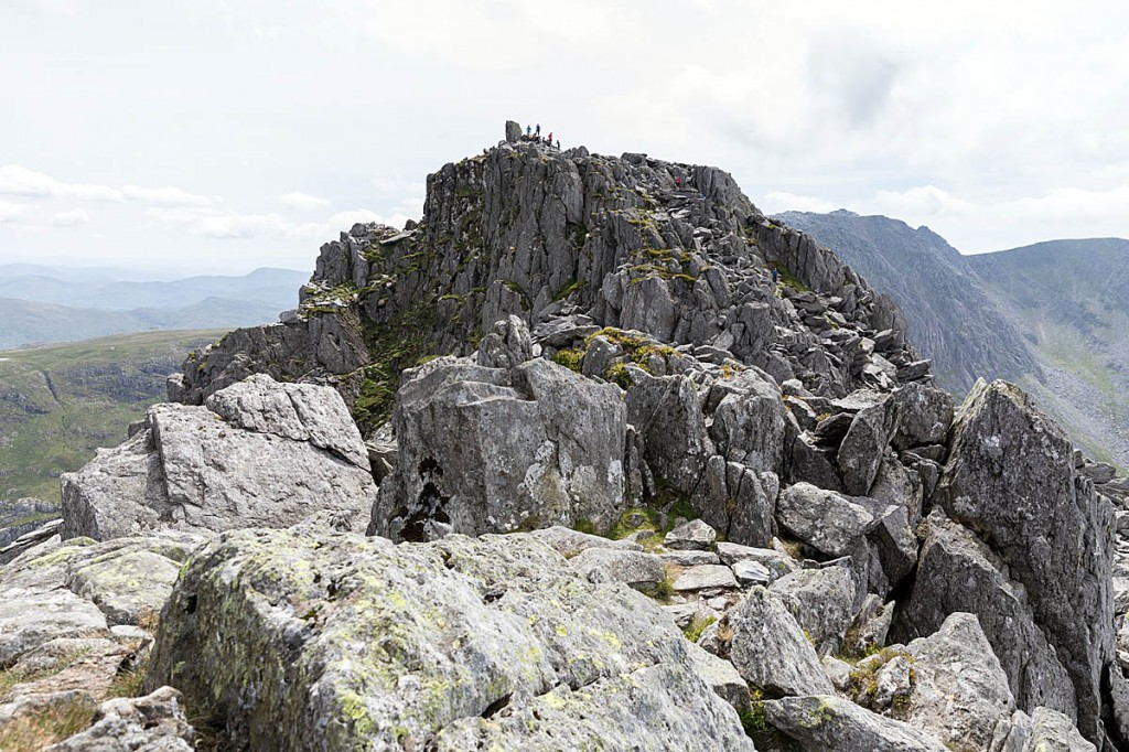 Looking to the main summit of Tryfan. Photo: Bob Smith/grough