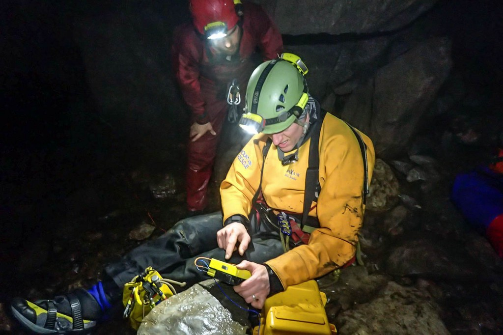 Rescuers at work underground during the rescue. Photo: UWFRA