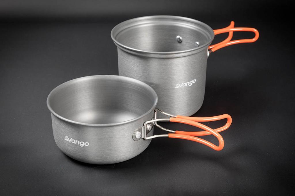 Vango Hard Anodised Cook Kit. Photo: Bob Smith/grough